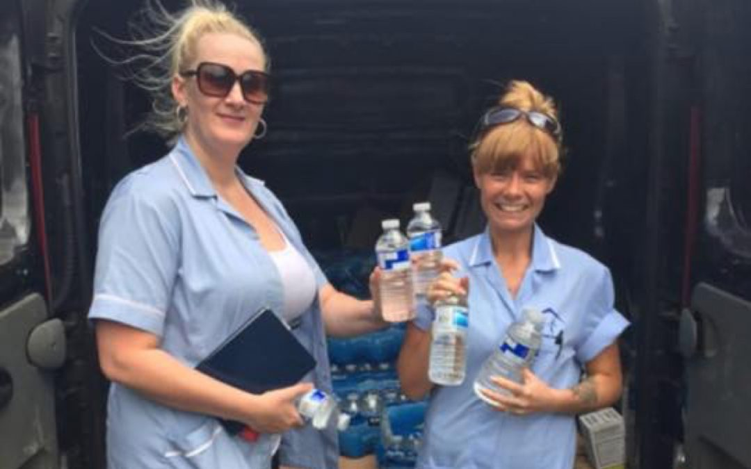 800 Water Bottles Delivered for our Service Users